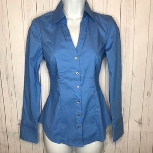 Express Essential Stretch Size XS Button Up Top